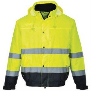 hi-vis bomber jacket