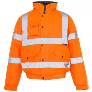hi vis bomber jacket orange