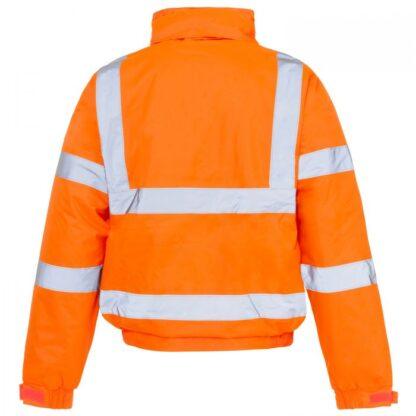 hi vis bomber orange reverse