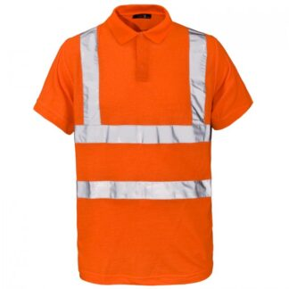 hi vis polo orange