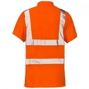 hi vis polo orange reverse