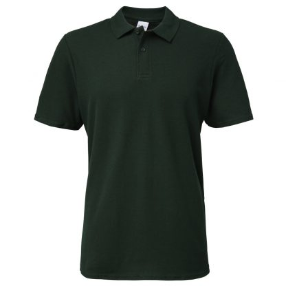 mens polo forest green