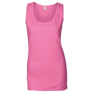 ladies vest long pink