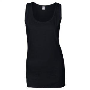 ladies vest long black