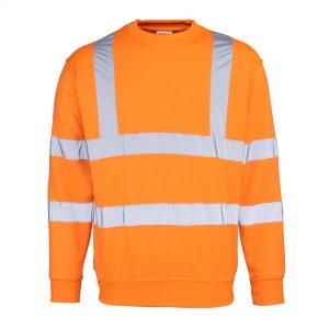 orange hi-vis sweatshirt