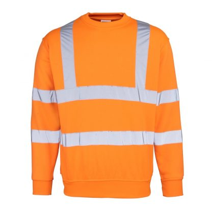 orange hi-vis sweatshirt