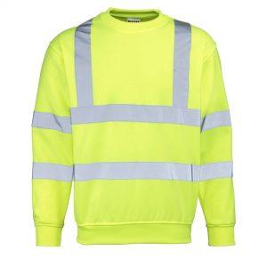 yellow hi-vis sweatshirt