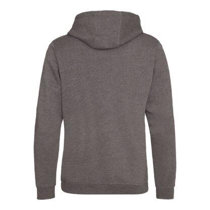 zipped hoody charcoal reverse
