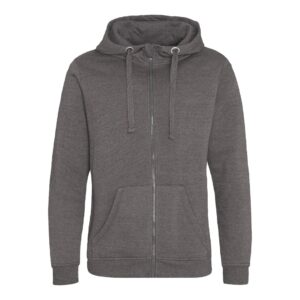 zipped hoody charcoal
