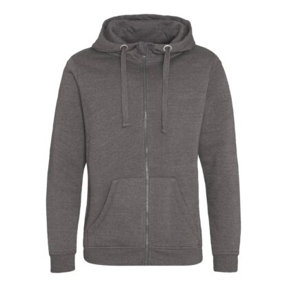zipped hoody charcoal