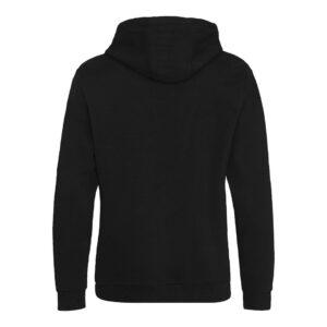 zipped hoody black reverse