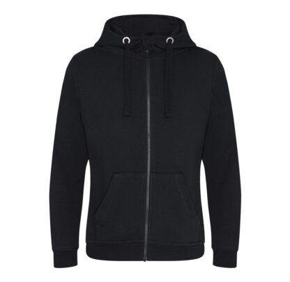 zipped hoody black