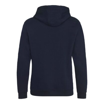 zipped hoody navy reverse