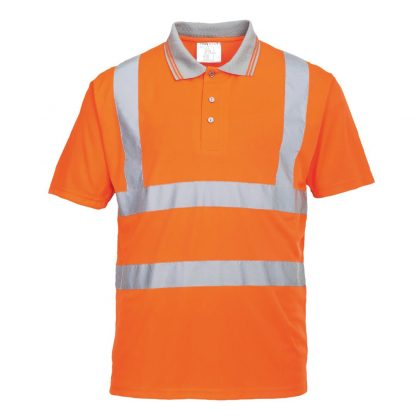 orange hi-vis polo