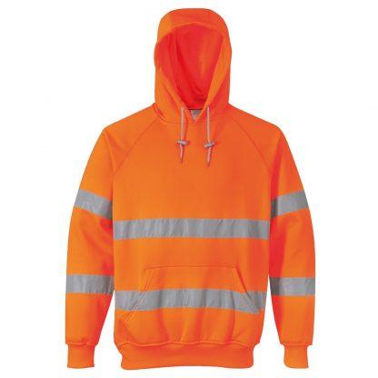 orange hi-vis hoody