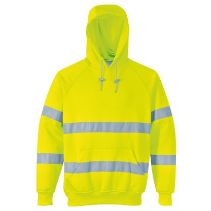 yellow hi-vis hoody