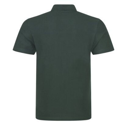 bottle green polo back