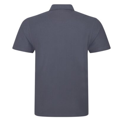 solid grey polo back