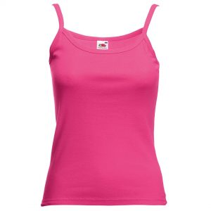 ladies strap vest fuchsia