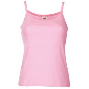 ladies strap vest pink