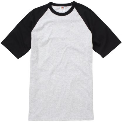 baseball tee black heather