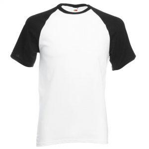 baseball tee black white