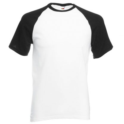 baseball tee black white