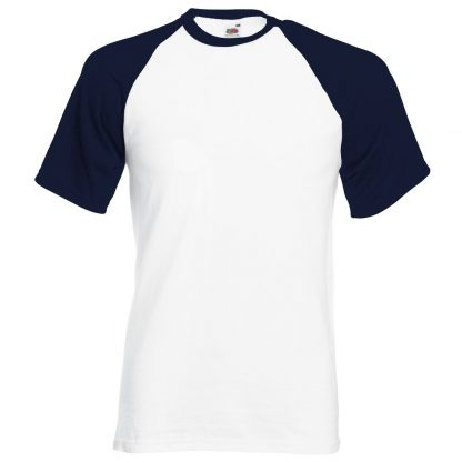 baseball tee navy white