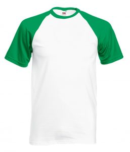baseball tee kelly white