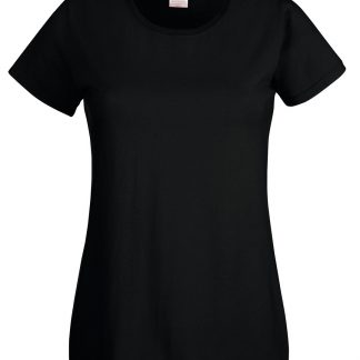 lady fit tee black