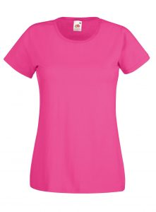 lady fit tee fuchsia