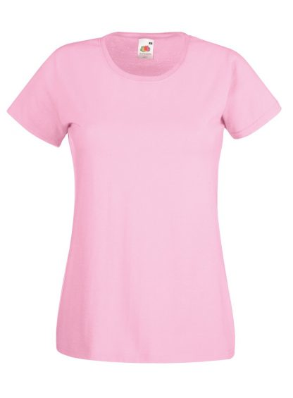 lady fit tee pink