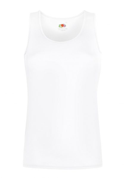 ladies vest white
