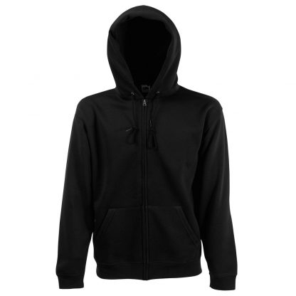 zipped hoody black