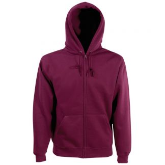 zipped hoody burgandy