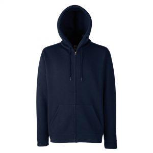 zipped hoody navy
