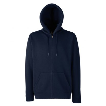 zipped hoody navy