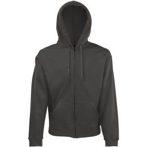 zipped hoody graphite