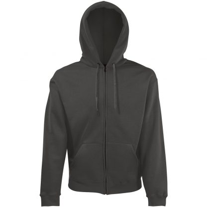 zipped hoody graphite