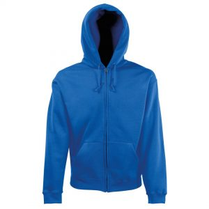 zipped hoody royal
