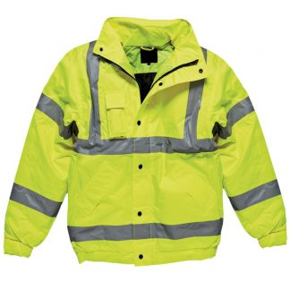 yellow hi-vis bomber jacket