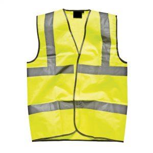 yellow hi-vis vest