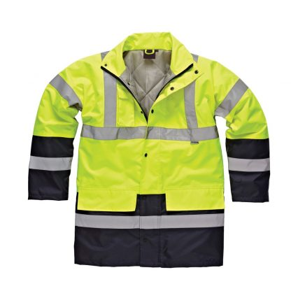 2 tone hi-vis jacket yellow and navy