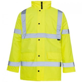 hi vis parka yellow