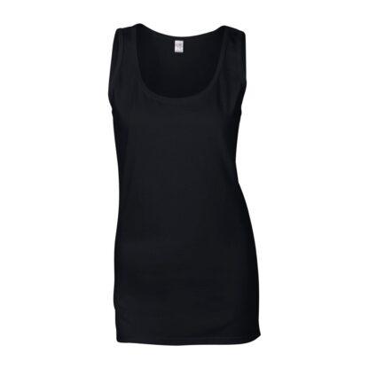 lady's vest black back
