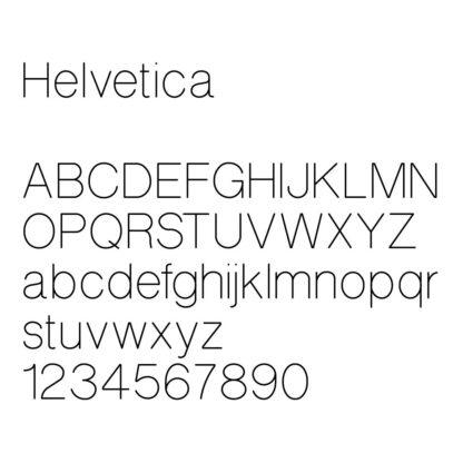 engraving font sample helvetica