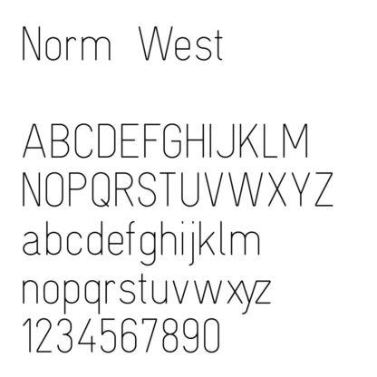 engraving font sample norm west