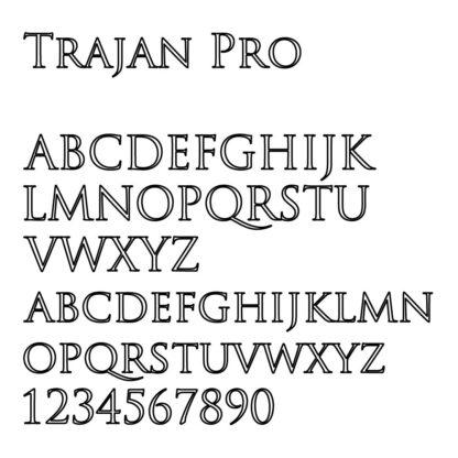 engraving font sample trajan