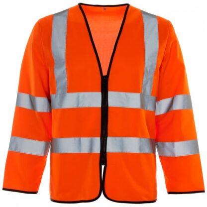 hi-vis long sleeved vest orange
