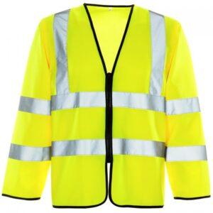 hi vis long sleeved vest
